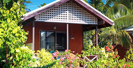 family bungalow at aitutaki village