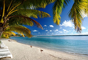 picture of beach on aitutaki lagoon