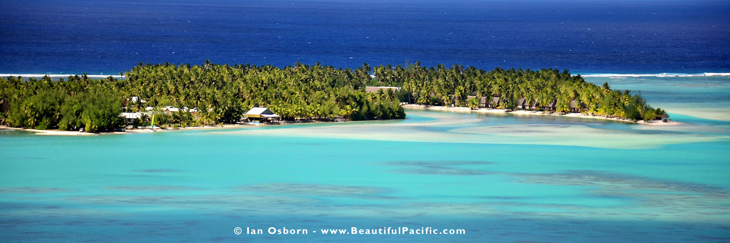 View of Samade on the Beach Resort in Aitutaki