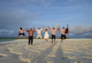 getting married in tropical cook islands